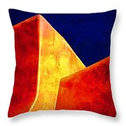 Ranchos In Orange And Yellow Throw Pillow by Carol Leigh