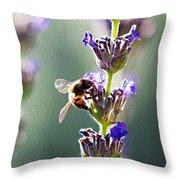 Random Lavender Sampling Throw Pillow