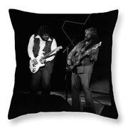 Randy And C.f. Rockin Out In Spokane In 1976 Throw Pillow