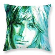 Randy Rhoads Portrait Throw Pillow
