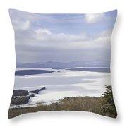 Rangeley Maine Winter Landscape Throw Pillow