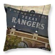 Rangers Ballpark In Arlington Color Throw Pillow