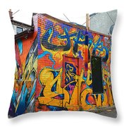 Rant Alley Throw Pillow