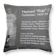 Rap Dixon Throw Pillow