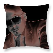 Rap Pitbull Throw Pillow