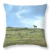 Rapa Nui Horse Throw Pillow