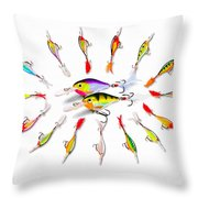 Rapala Knights Of The Sea Throw Pillow