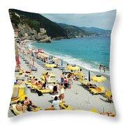Rapallo Beach Throw Pillow
