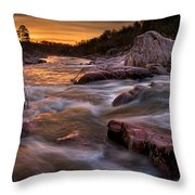 Rapids At Dawn Throw Pillow