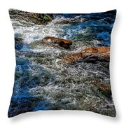 Rapids On The Gore Throw Pillow