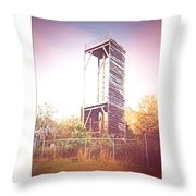 Rappelling Tower Throw Pillow
