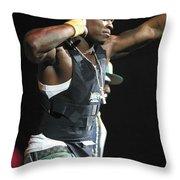 Rapper Fifty Cent Throw Pillow