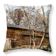 Rapps Dam Covered Bridge Throw Pillow