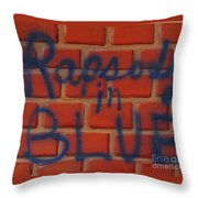 Rapsody In Blue Throw Pillow
