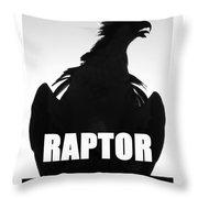 Raptor Spc Work A Throw Pillow
