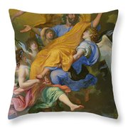 Rapture Of Saint Joseph Throw Pillow