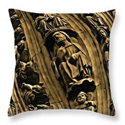 Raptured Saints Throw Pillow