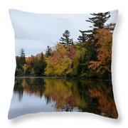 Raquette River Reflections Throw Pillow