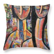 Rare Flowers Throw Pillow by Chaline Ouellet