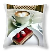 Raspberry Delice And Latte Throw Pillow