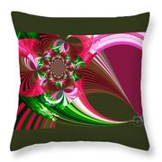 Raspberry Garden Throw Pillow