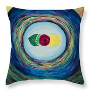Raspberry Lemon Lime Throw Pillow
