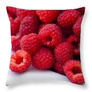 Raspberry Red Throw Pillow