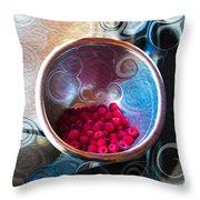 Raspberry Reflections Throw Pillow