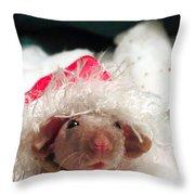 Rat Elf Throw Pillow