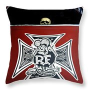 Rat Fink Big Daddy Roth Throw Pillow