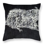Rat - Oil Portrait Throw Pillow