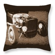 Rat Rod Throw Pillow