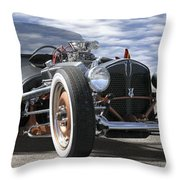 Rat Rod On Route 66 2 Panoramic Throw Pillow