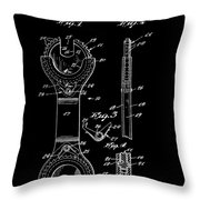 Ratchet Wrench Patent Throw Pillow