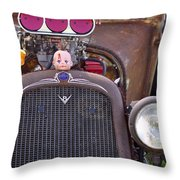 Ratrodded Out  Throw Pillow by Juls Adams