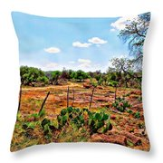 Rattle Rock Road Throw Pillow