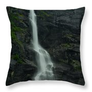 Rauma County Waterfall Throw Pillow