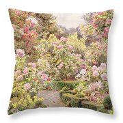 Raundscliffe - Everywhere Are Roses Throw Pillow