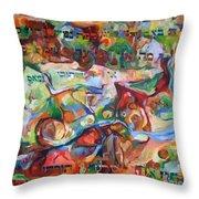 Rava Explicated Throw Pillow