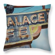 Raven And Palace Throw Pillow