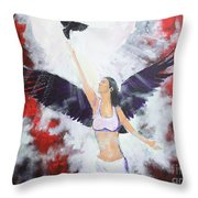 Raven Freed Throw Pillow