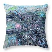 Raven - Oil Portrait Throw Pillow
