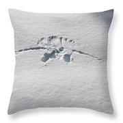 Raven Snow Angel Throw Pillow