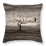 Raven Sonatta Throw Pillow