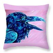 Raven Song Throw Pillow