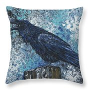Raven Study 3 Throw Pillow