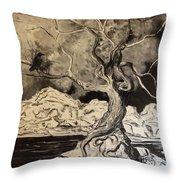 Ravenlight Tree Throw Pillow