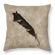 Raven's Gift Throw Pillow