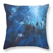 Ravens Of The Blue Throw Pillow
