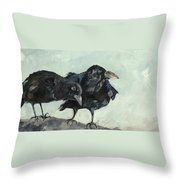 Raven's Perch Throw Pillow